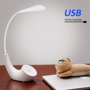 LED Desk Lamp, Eye-caring Table Lamps 3 Brightness Levels Office Reading Lamp with USB Charging Port, Touch Control, Memory Function
